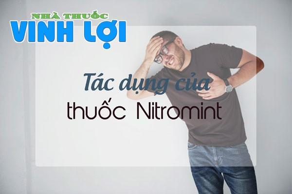 Thuốc Nitromint 2.6mg có tác dụng gì?