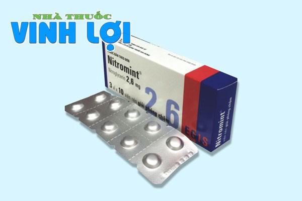 Tìm hiều về thuốc giãn mạch Nitromint 2,6mg