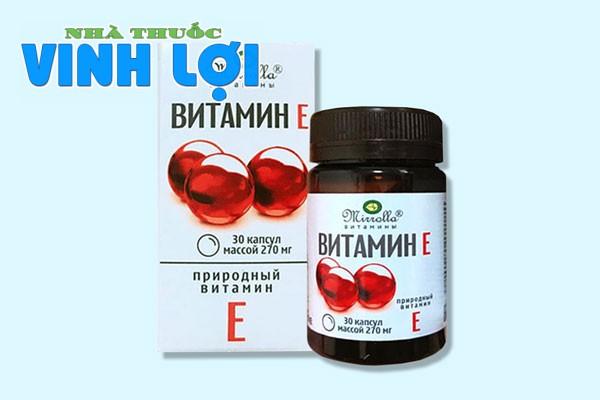 Viên uống Vitamin E đỏ của Nga có tốt không?