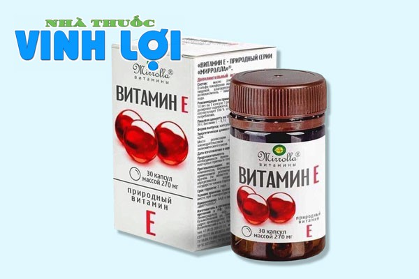 Tìm hiểu về vitamin E đỏ của Nga