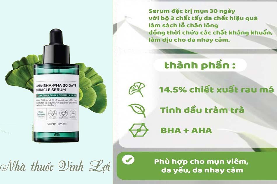 Serum trị mụn AHA, BHA - Some By Mi AHA BHA PHA 30 Days Miracle Serum