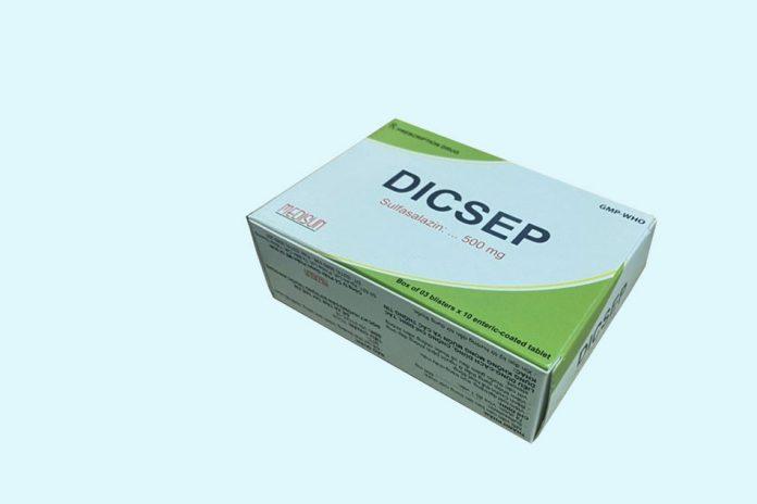 Dicsep - thuốc hỗ trợ điều trị viêm loét dạ dày, tá tràng