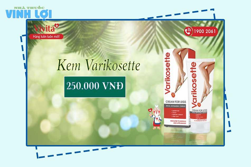 Kem Varikosette chính hãng mua ở đâu tại Hà Nội, TpHCM?