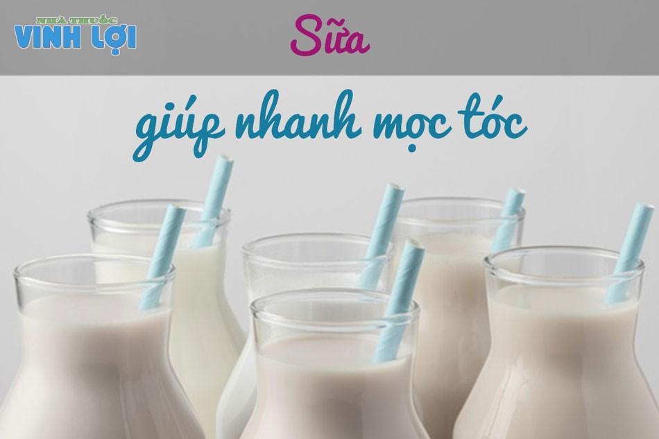 Canxi trong sữa giúp tóc nhanh dài và chắc khỏe