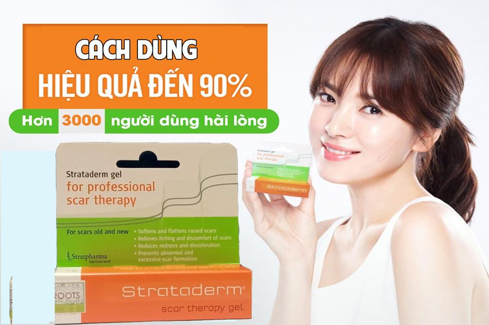 Cách sử dụng thuốc trị sẹo Strataderm