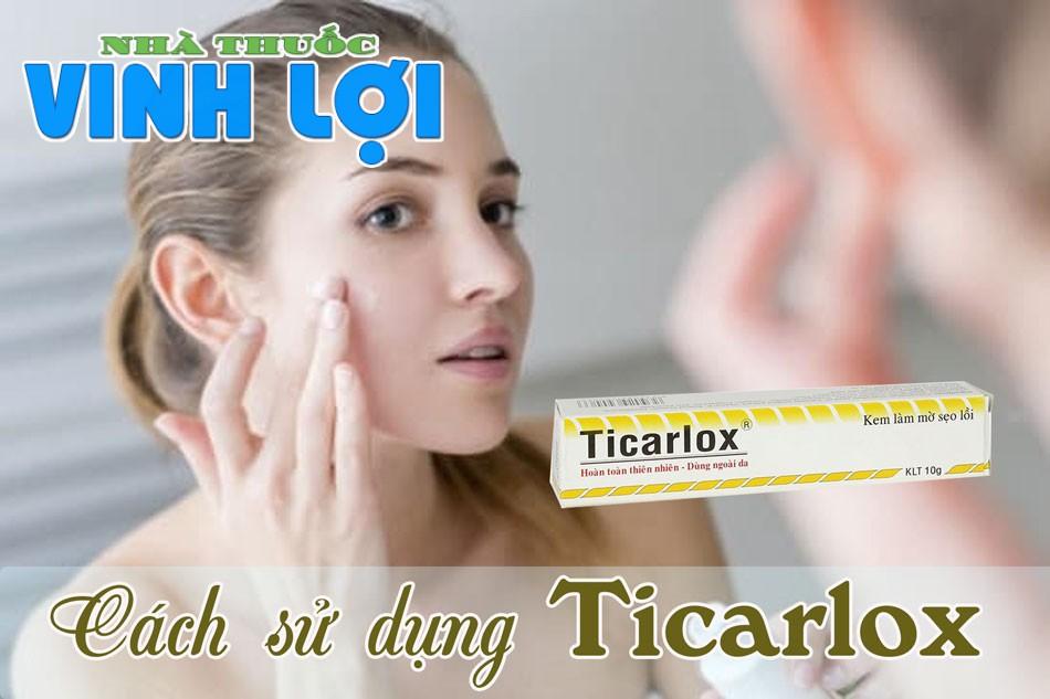 Kem trị sẹo Ticarlox được bào chế dưới dạng kem, đóng trong các tuýp nhỏ