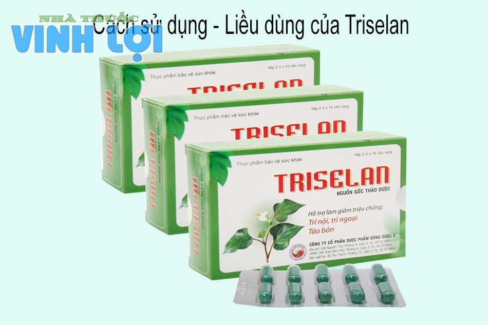 Cách sử dụng - Liều dùng của Triselan