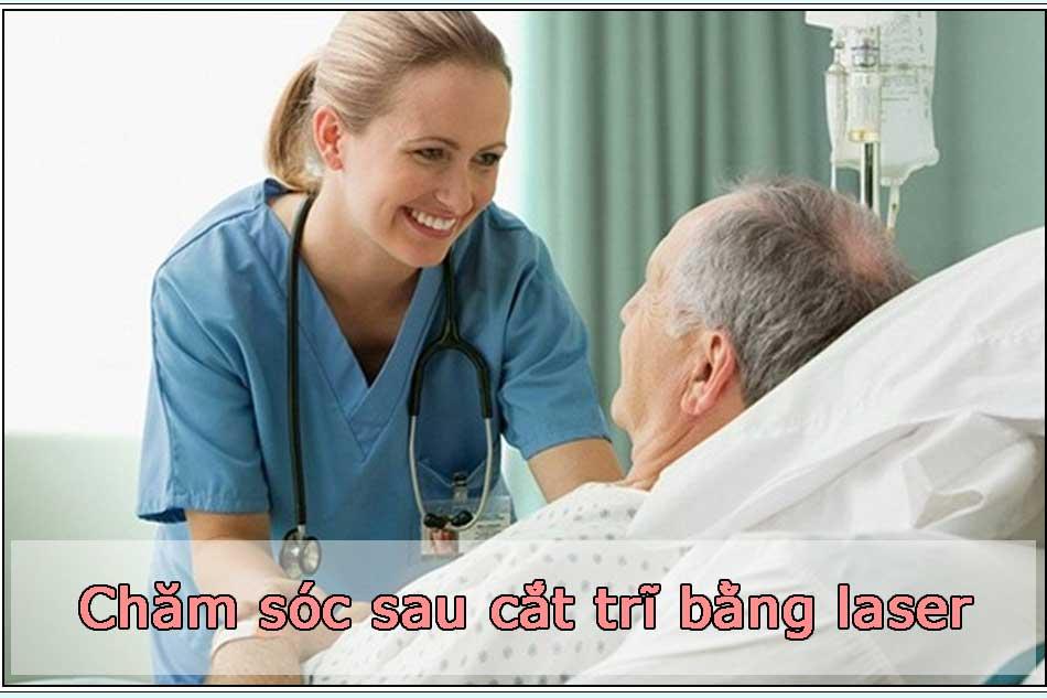 Chăm sóc sau khi cắt trĩ bằng laser