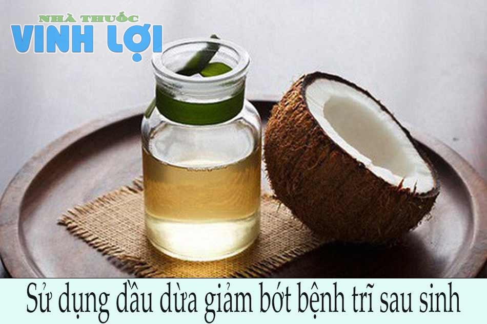 Sử dụng dầu dừa giảm bớt bệnh trĩ sau sinh