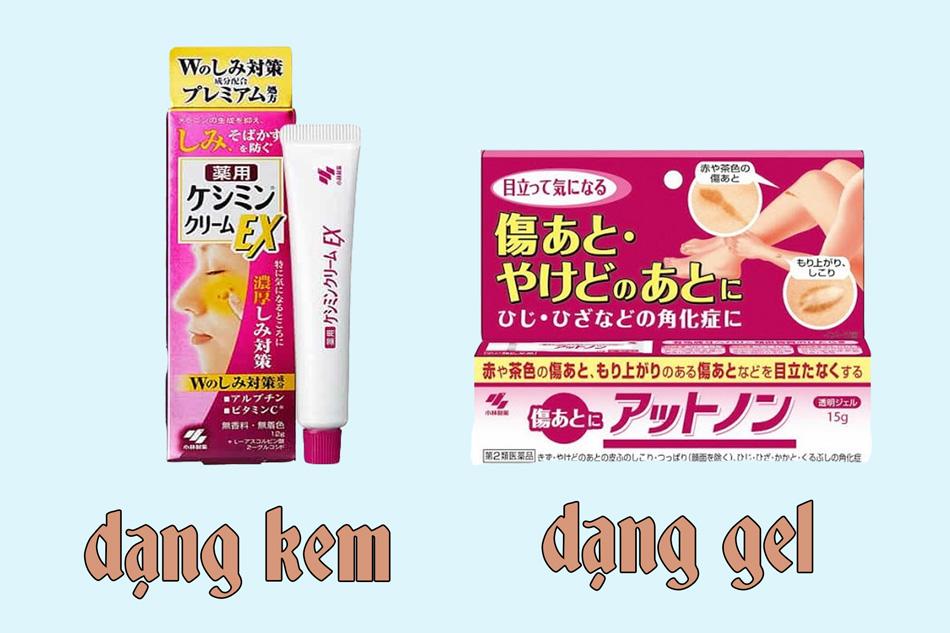 Kem trị sẹo Kobayashi có hai dạng là dạng kem và dạng gel