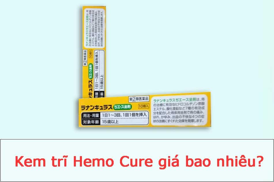 Kem trĩ Hemo Cure giá bao nhiêu?