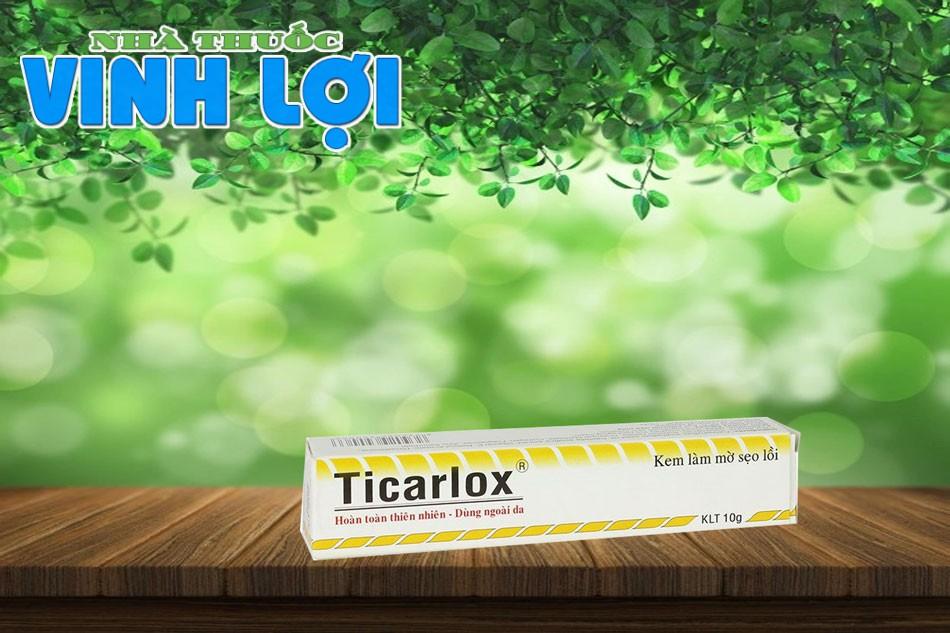 Ticarlox là kem sẹo có tác dụng làm mờ thâm, làm phẳng dần các vết sẹo lồi