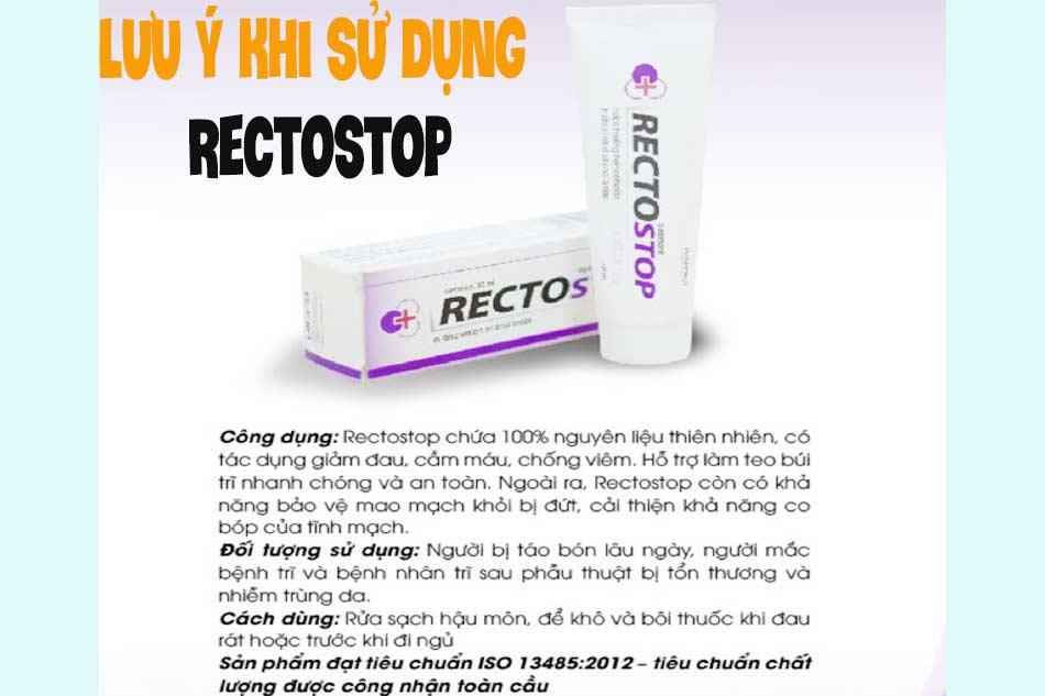 Lưu ý khi sử dụng Rectostop