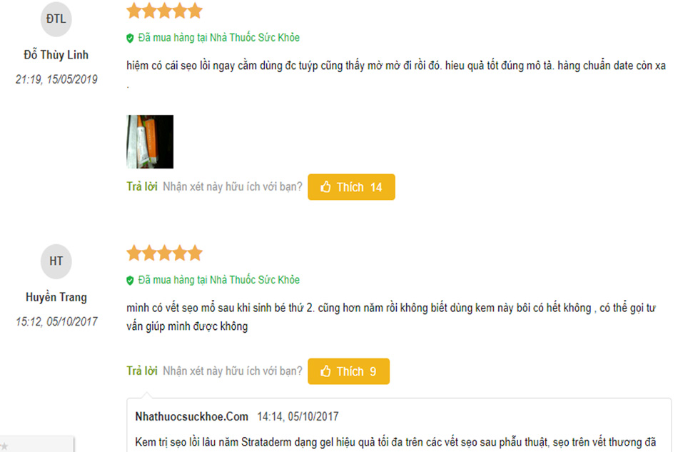 Review về kem trị sẹo Strataderm