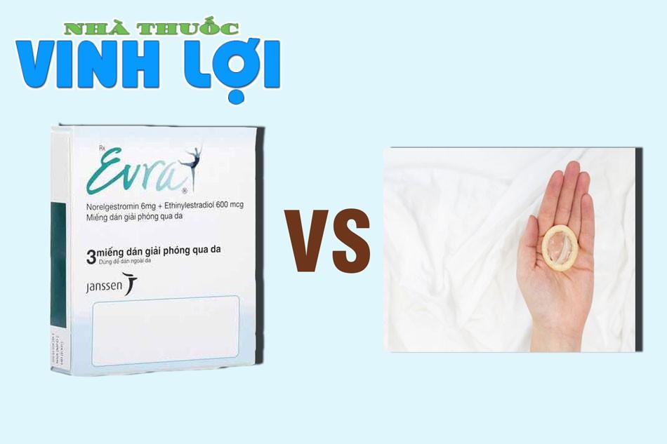 So sánh miếng dán tránh thai Evra với bao cao su