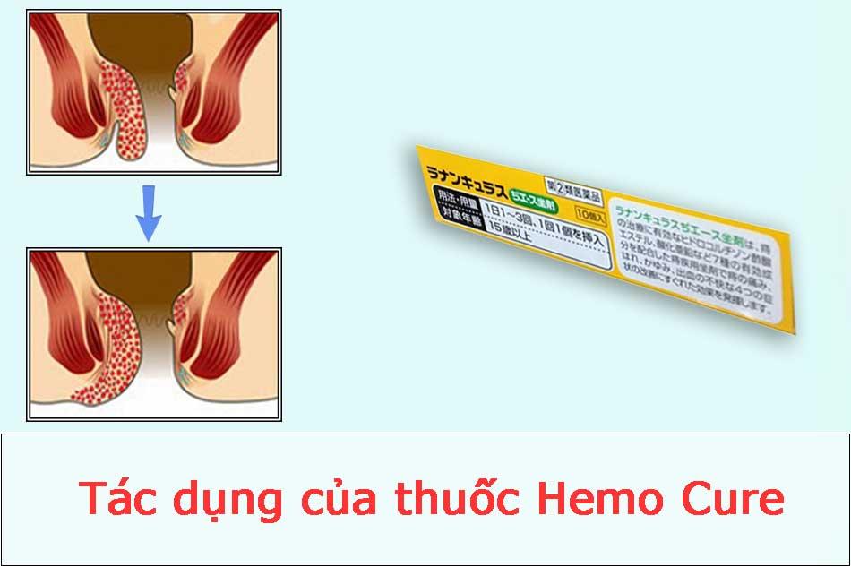 Tác dụng của thuốc Hemo Cure