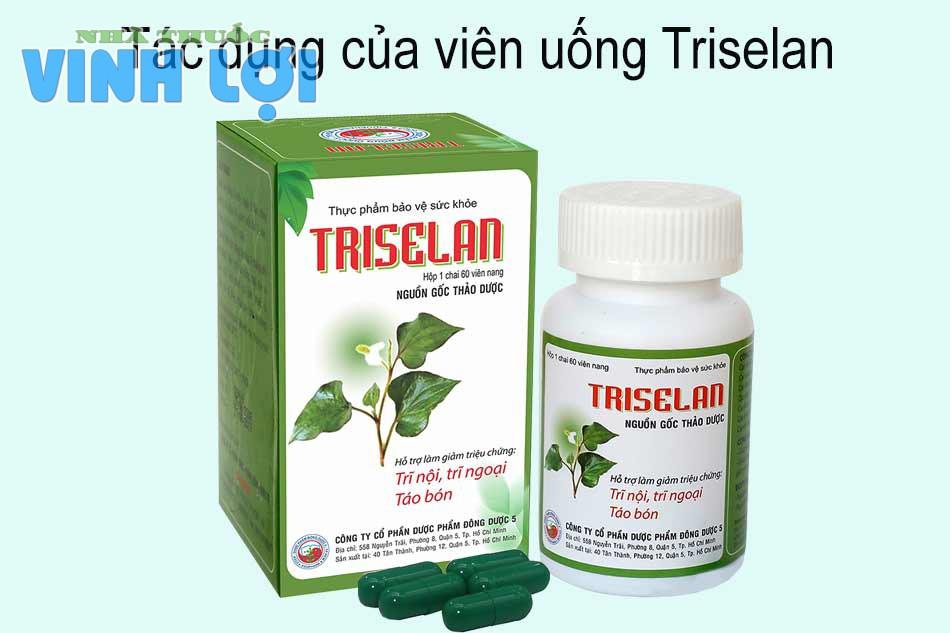 Tác dụng của viên uống Triselan