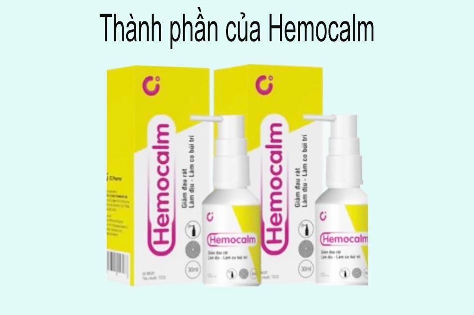 Thành phần của Hemocalm