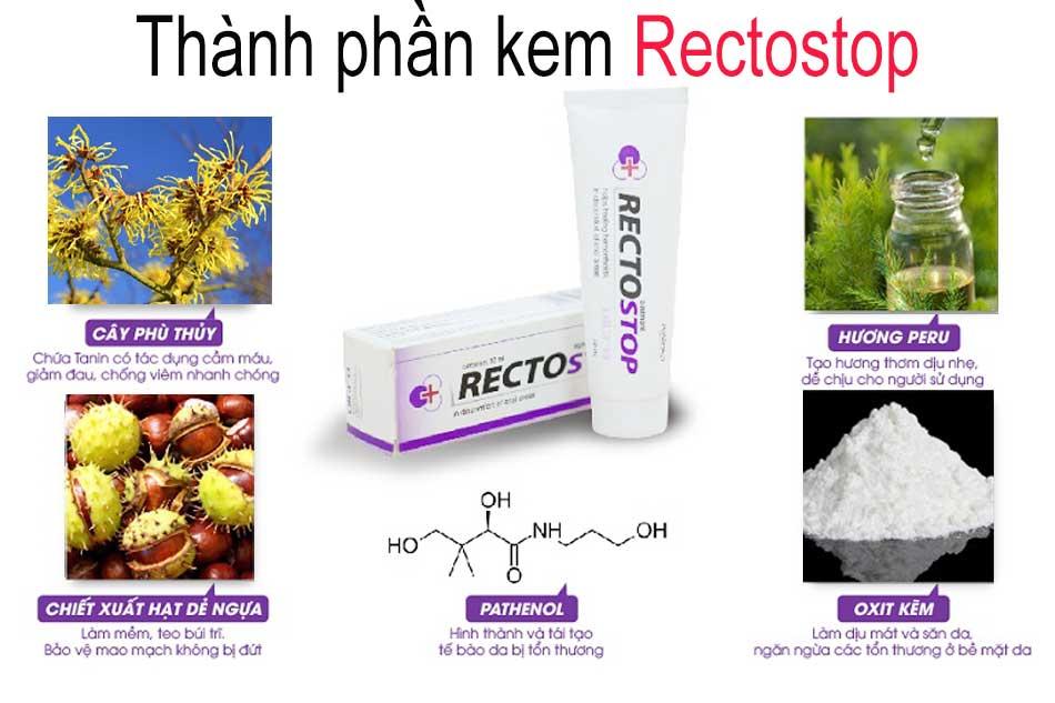 Thành phần của kem Rectostop
