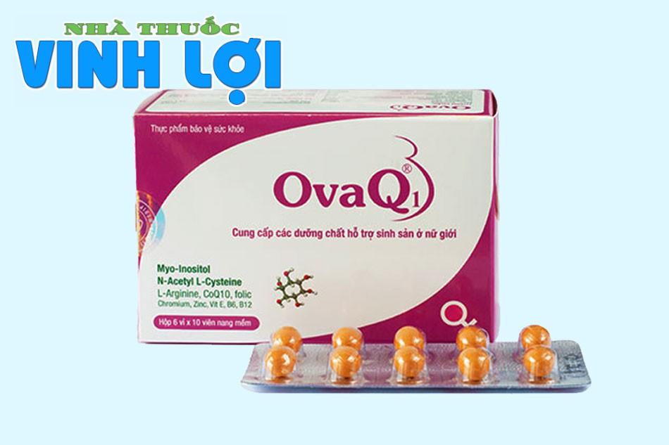 OvaQ1 là một loại thực phẩm bảo vệ sức khỏe giúp hỗ trợ mang thai tự nhiên ở nữ giới