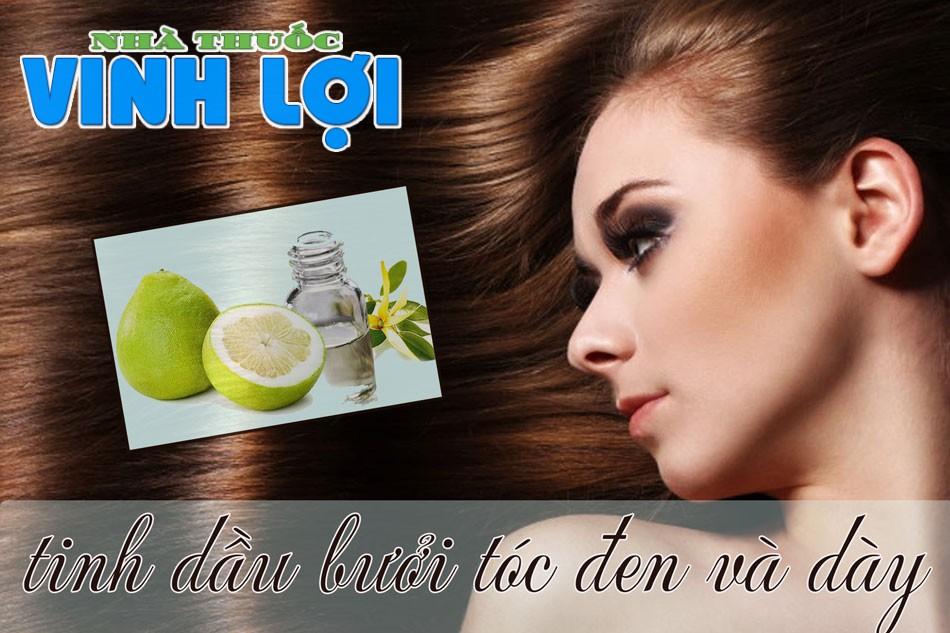 Tinh dầu bưởi giúp tóc đen và dày