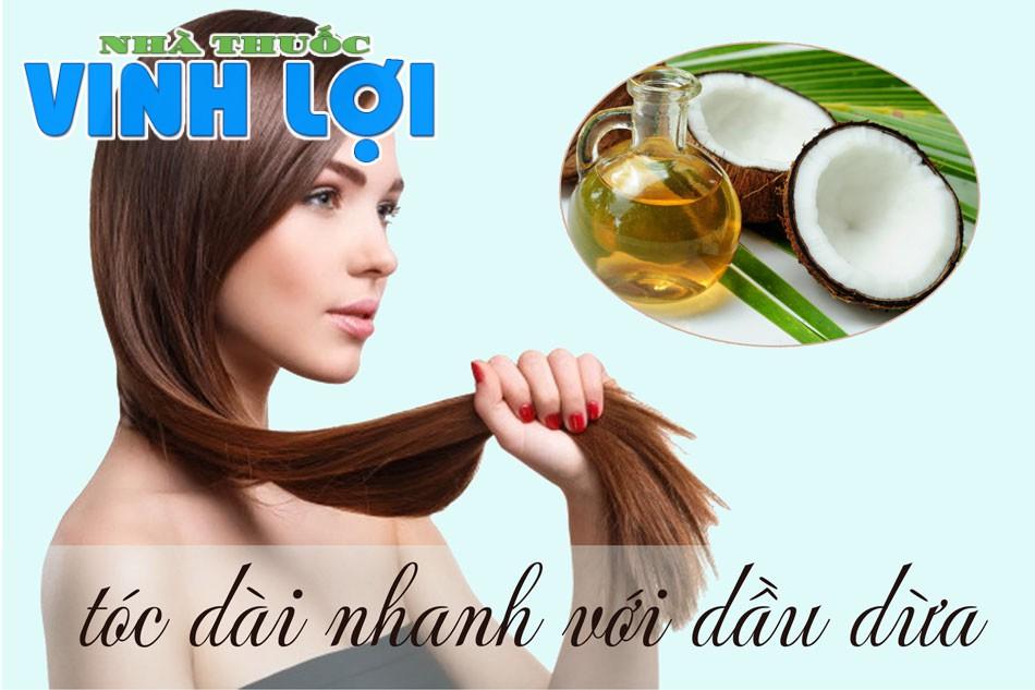 Tóc dài nhanh với dầu dừa