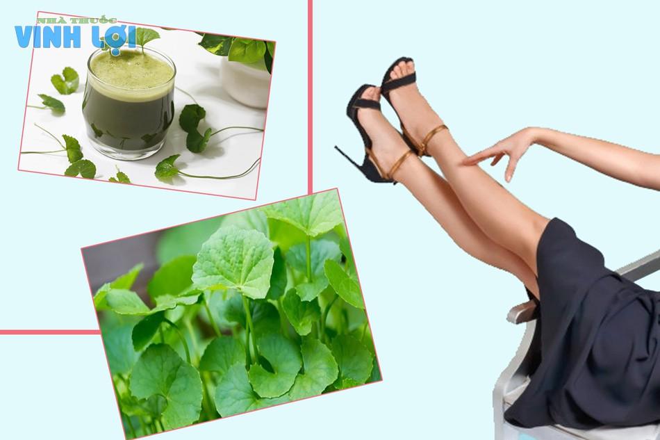 Cách trị vết thâm ở chân bằng rau má