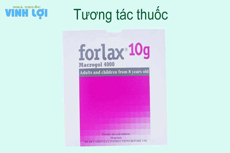 Tương tác thuốc Forlax