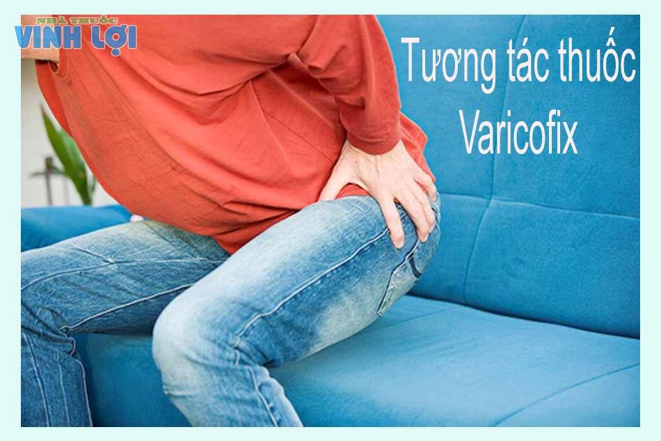 Tương tác thuốc Varicofix
