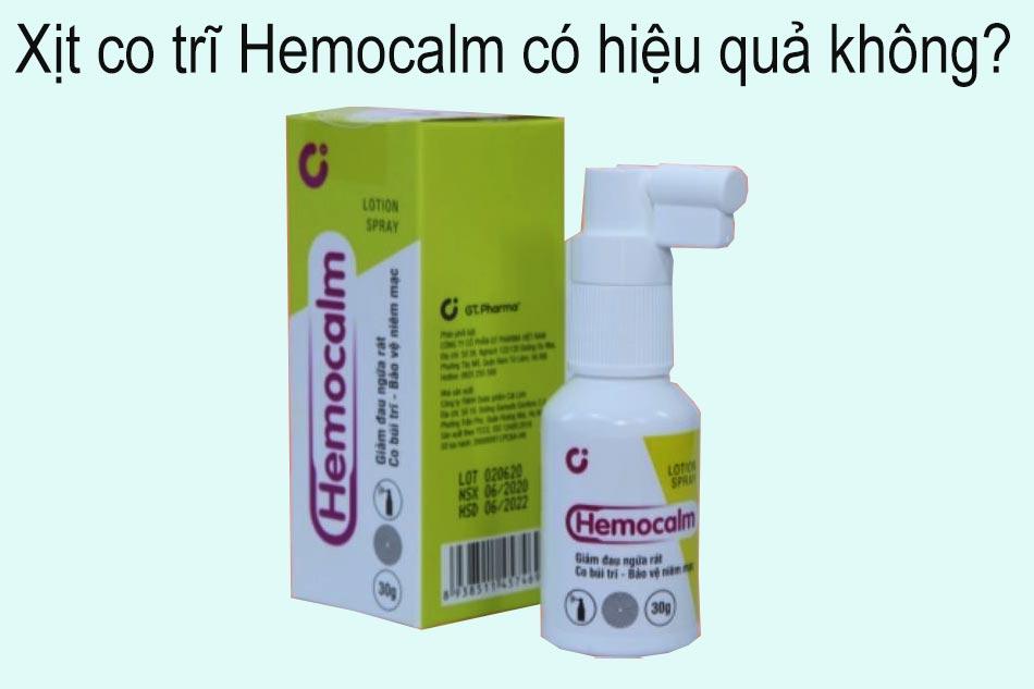 Xịt co trĩ Hemocalm có hiệu quả không?