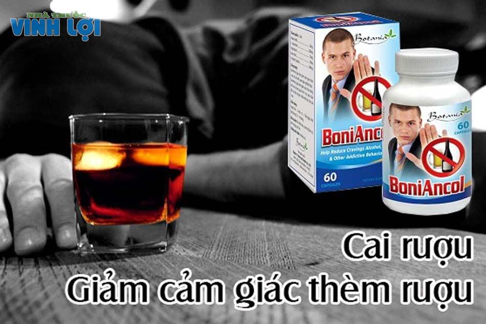 Thuốc cai nghiện rượu BoniAncol đén từ thương hiệu của Canada