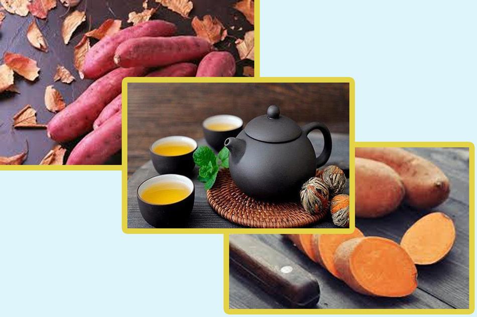 Kết hợp sử dụng trà giảm cân và khoai lang