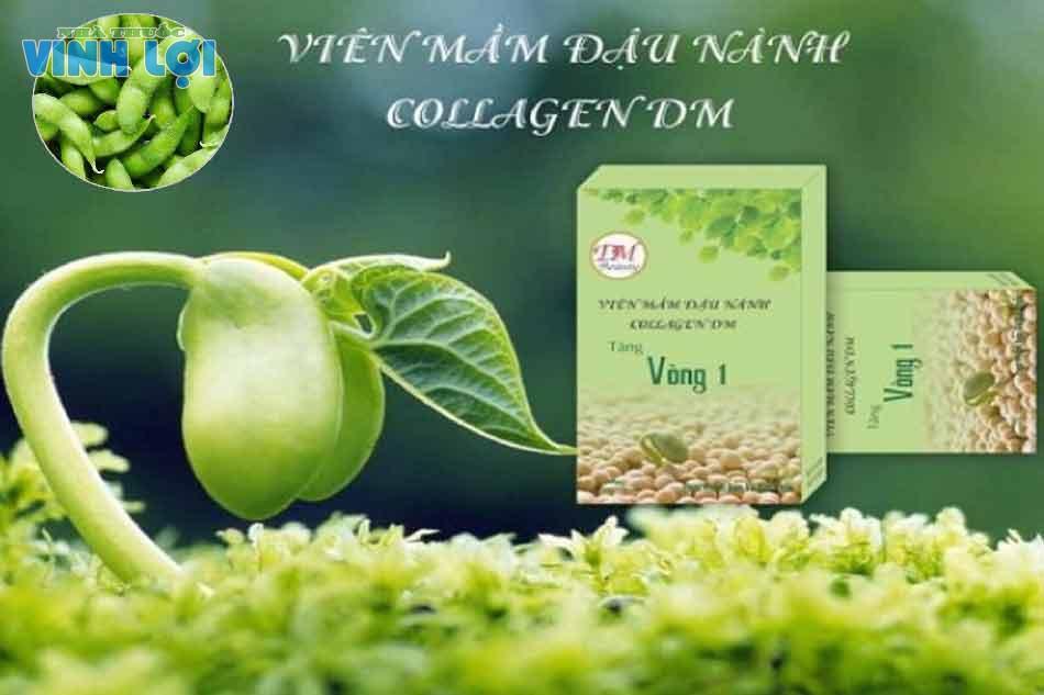 Viên mầm đậu nành tăng vòng 1 Collagen DM