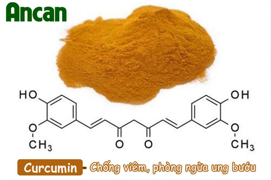 Curcumin - tinh chất có trong củ nghệ vàng có tác dụng chống oxy hóa