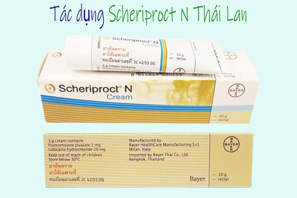 Tác dụng của Scheriproct N