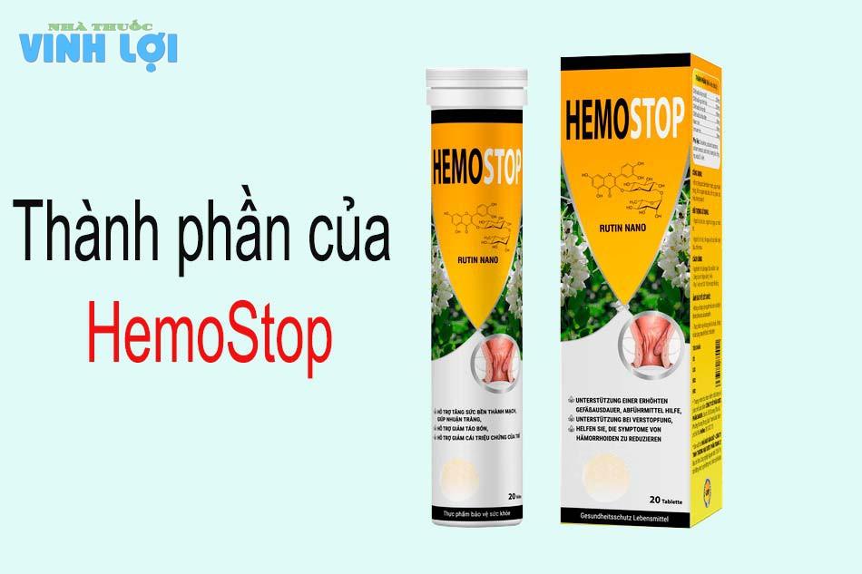 Thành phần của HemoStop