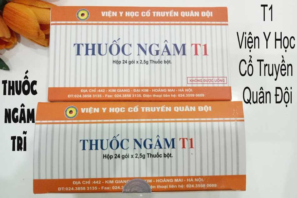 Thuốc ngâm trĩ T1 Viện Y Học Cổ Truyền Quân Đội