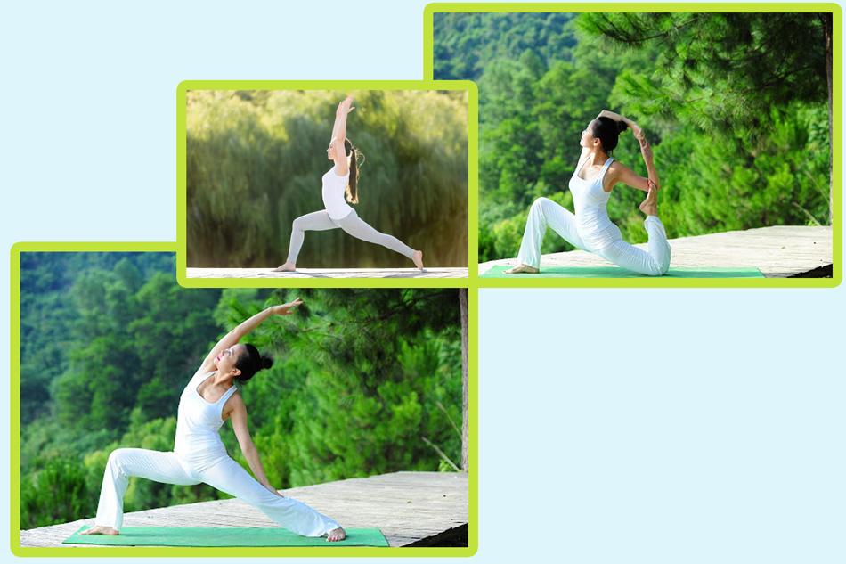Bài tập yoga giảm cân tư thế chiến binh