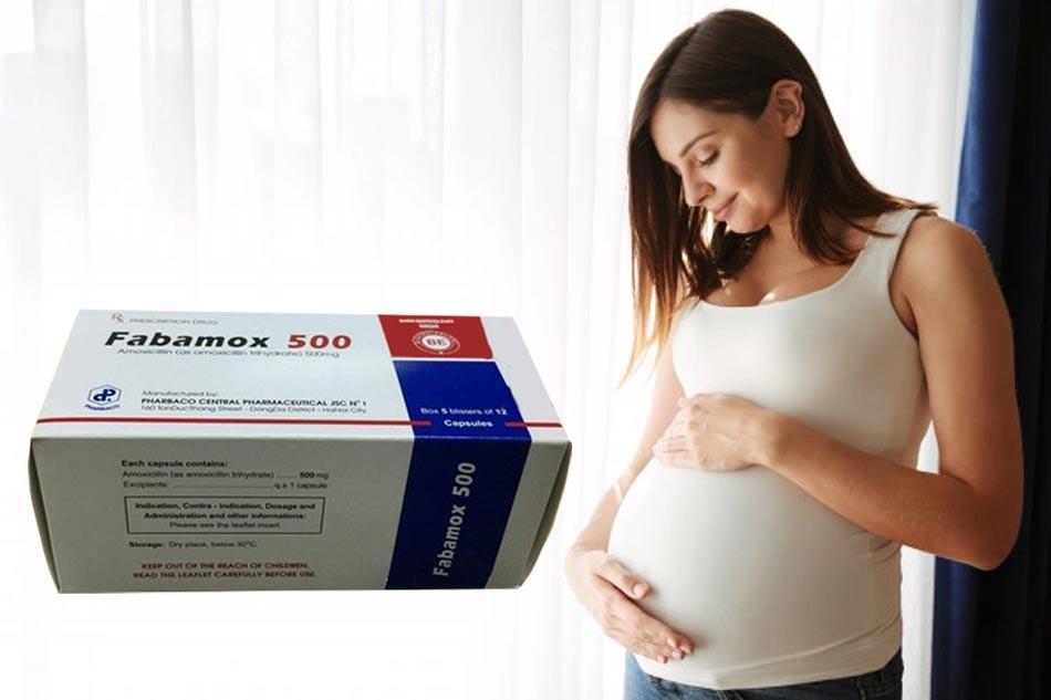Lưu ý Fabamox 500mg với phụ nữ mang thai