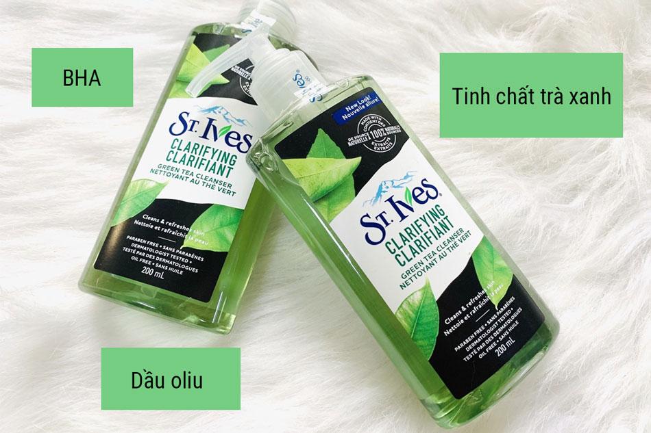 Sữa rửa mặt cho da dầu mụn St. Ives Green Tea Clarifying