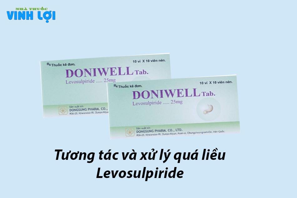 Tương tác và xử lý quá liều Levosulpiride