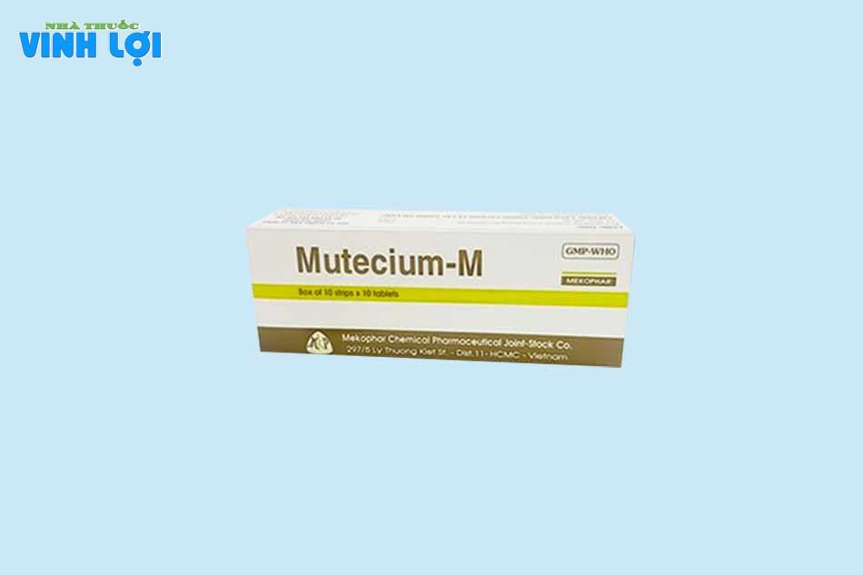 Chống chỉ định Mutecium