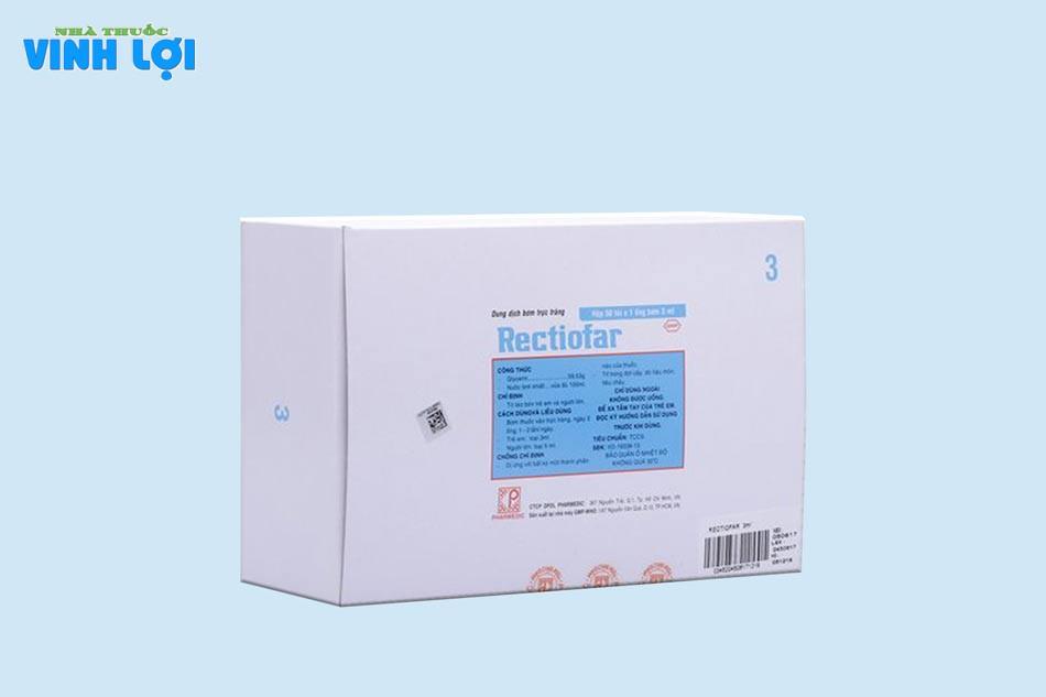 Thuốc Rectiofar sản xuất bởi Công ty cổ phần Dược phẩm Dược liệuPharmedic– VIỆT NAM