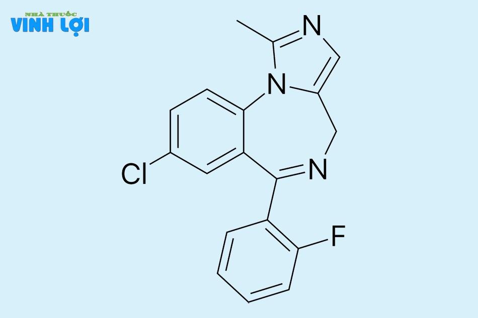 Thành phần chính của Paciflam là Midazolam hydroclorid