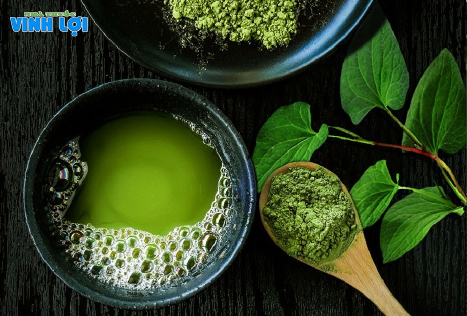 Hỗn hợp rau diếp cá, trà xanh rất tốt trong trị mụn ẩn