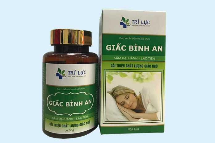 Viên uống hỗ trợ điều trị mất ngủ Giấc Bình An