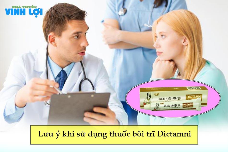 Lưu ý khi sử dụng thuốc bôi trĩ Dictamni