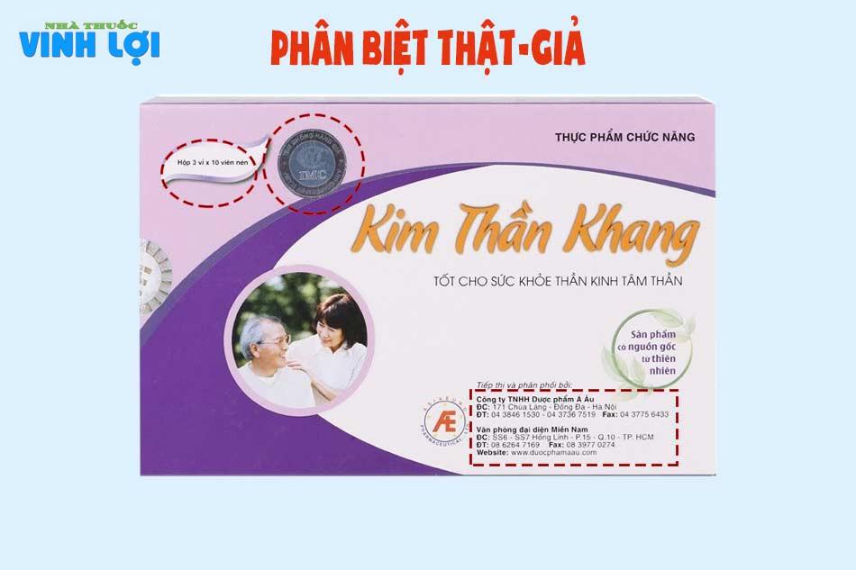 Phân biệt Kim Thần Khang thật - giả