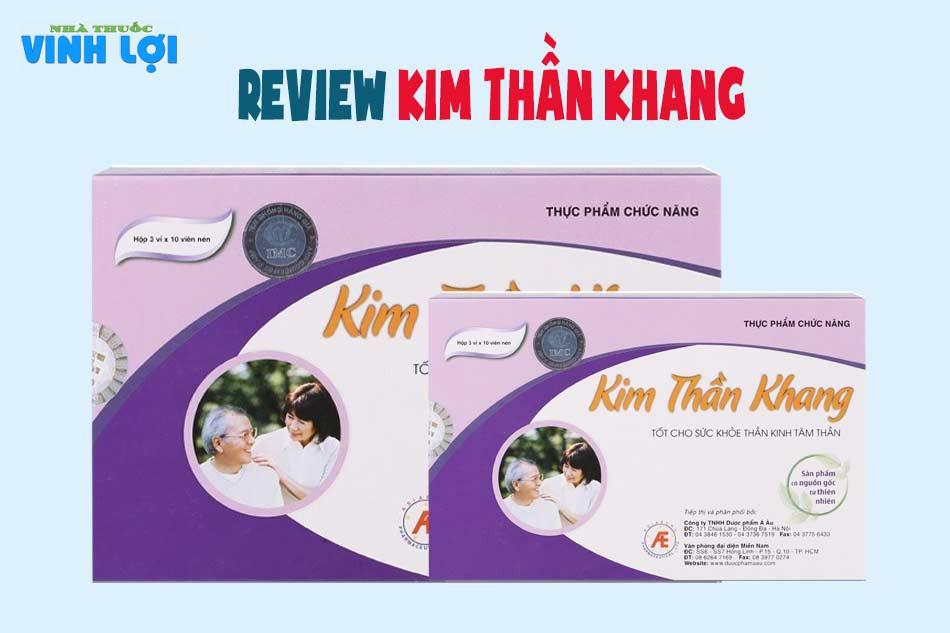 Review hỏi đáp về Kim Thần Khang từ người dùng