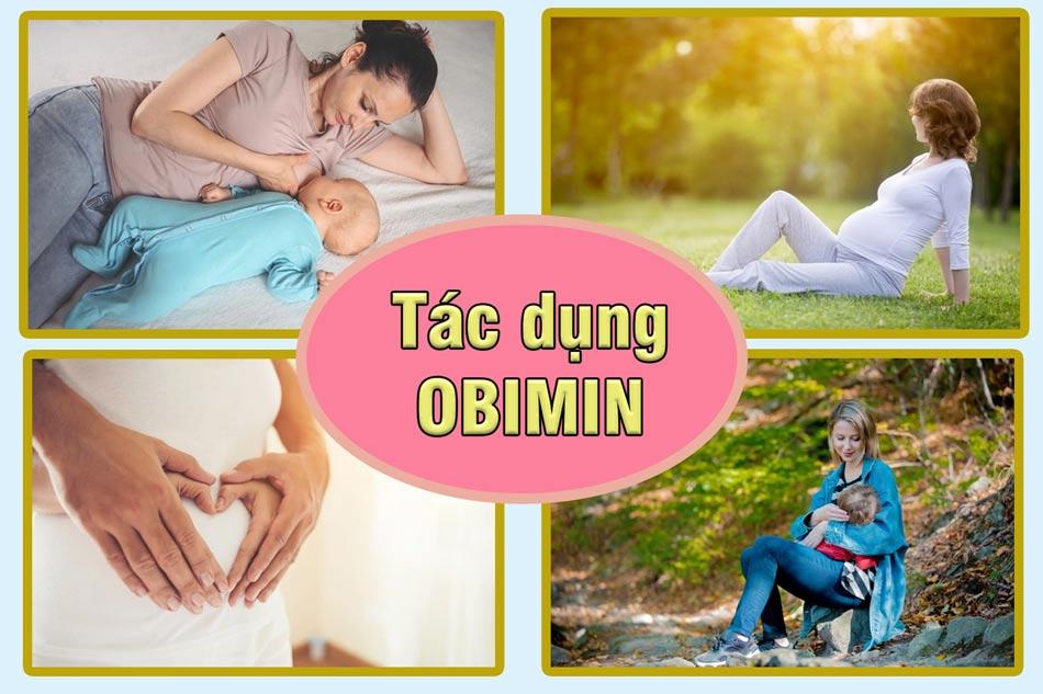Obimin bổ sung vitamin, dưỡng chất cho phụ nữ giai đoạn thai kỳ và cho con bú